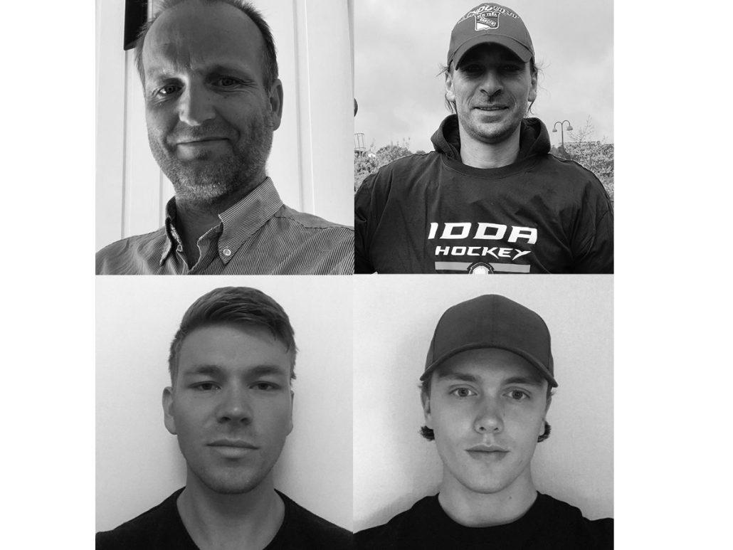 Bilde av fire menn